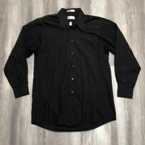 Van Heusen Black Mens Dress Shirt